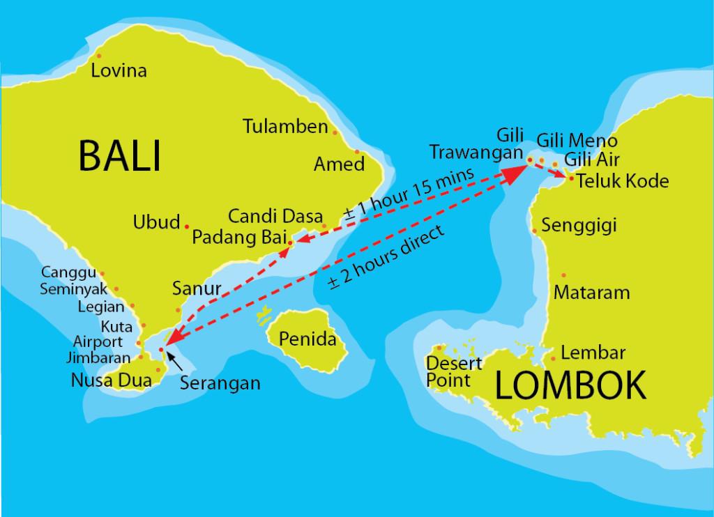 Карта расположения островов Гили