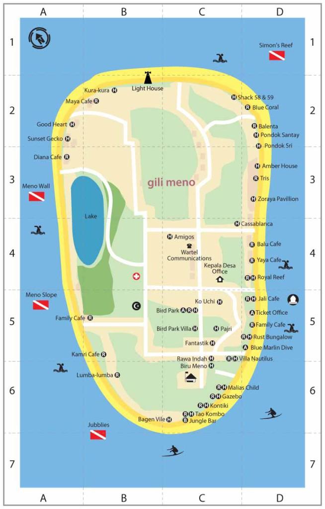 Карта Гили Мено